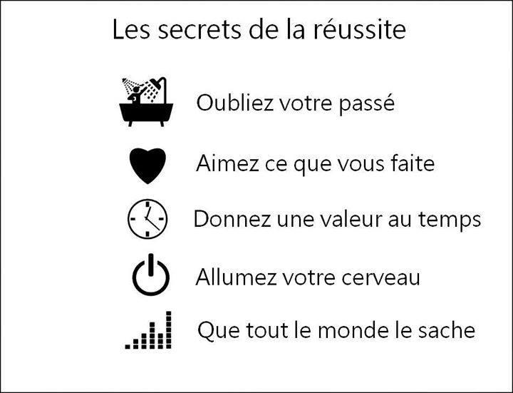 Les secret de la réussite