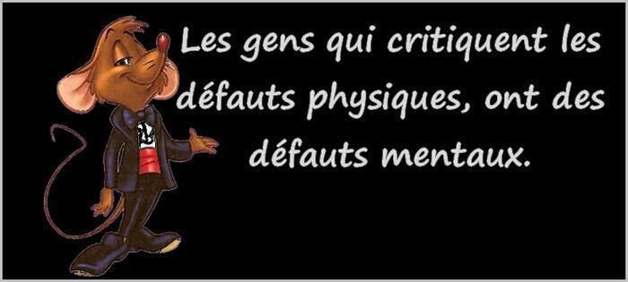 Critiquer les défauts