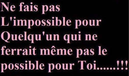 Le possible et l'impossible