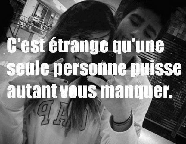 Tu me manques beaucoup