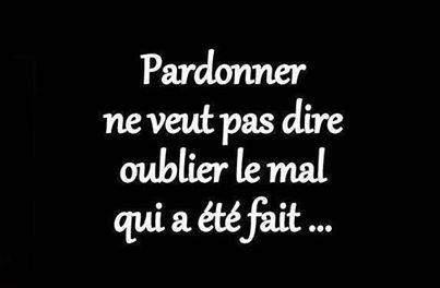 Oublier le mal