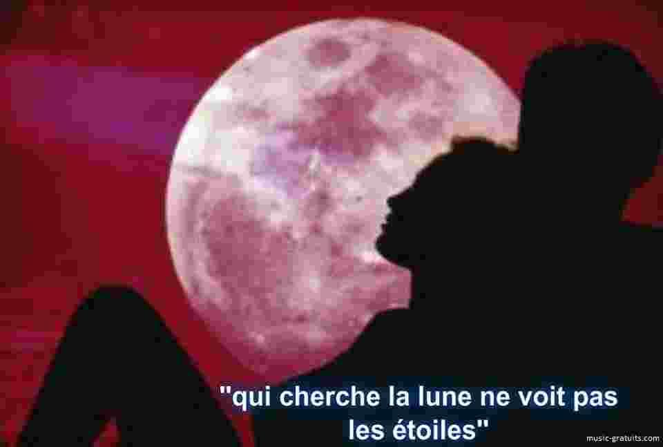 Qui cherche la lune, ne voit pas les étoiles