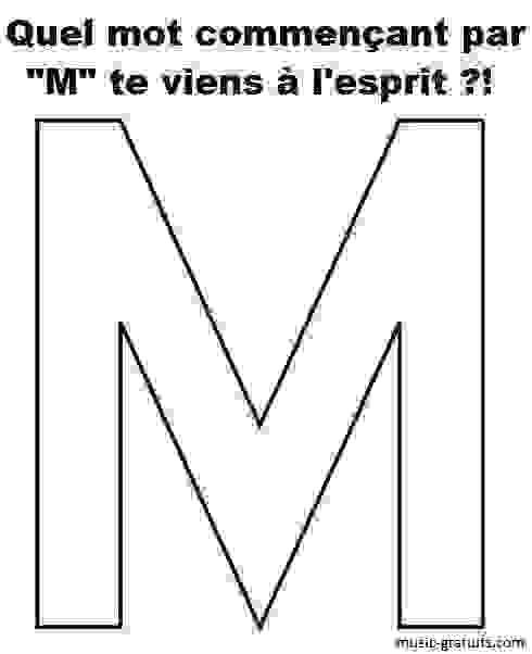 """Un mot qui commence par la lettre """"M"""""""