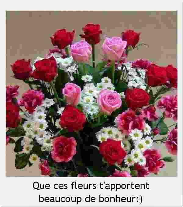 Que ces fleurs t'apportent beaucoup de bonheur