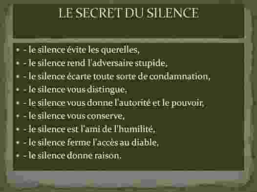 Le Secret du Silence