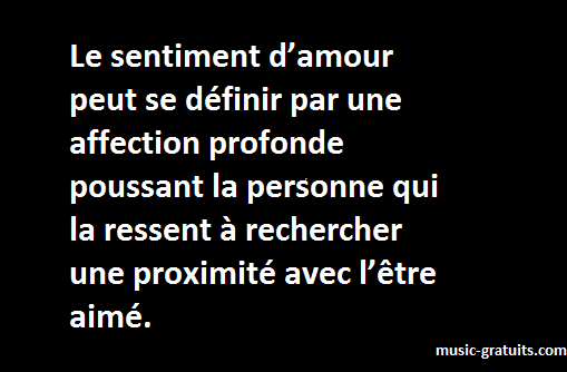 Le sentiment d'amour