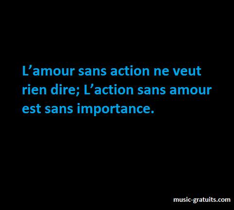 L'amour sans action