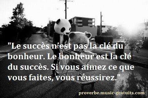Si vous aimez ce que vous faites, vous réussirez.