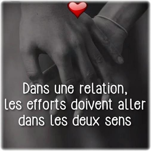 Dans une relation , les efforts doivent aller dans les deux sens .