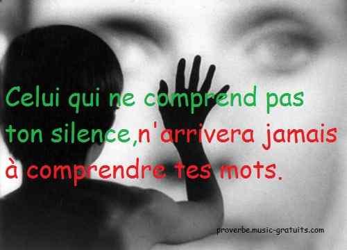 Celui qui ne comprend pas ton silence