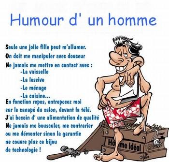 HUMOUR D'UN HOMME